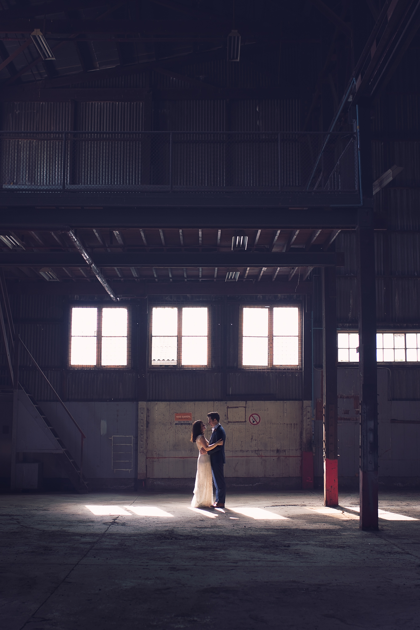melbourne industrial warehouse wedding
