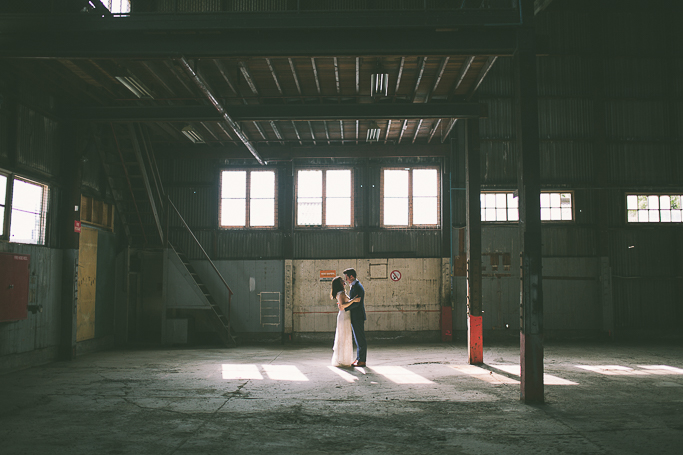 Lauren's Hall industrial warehouse wedding - Melbourne