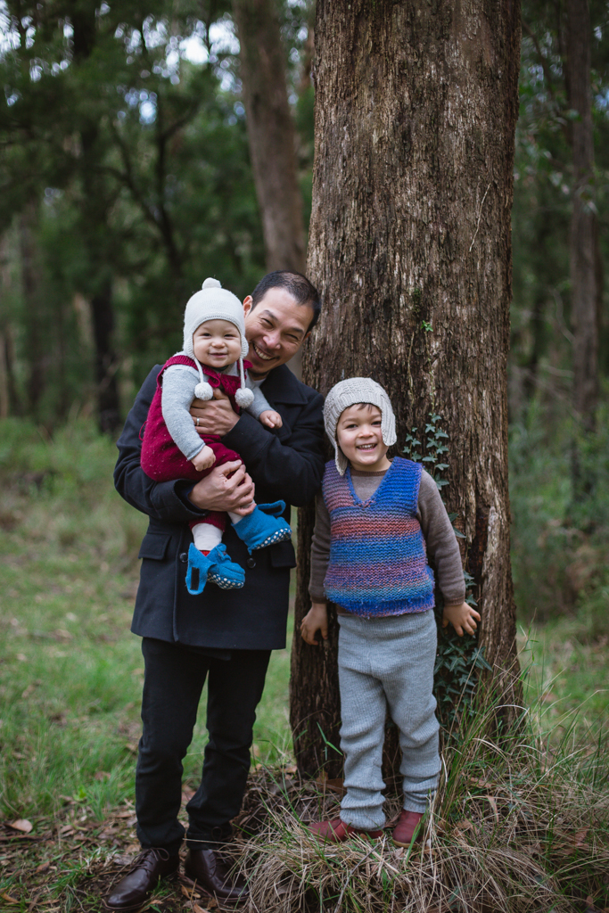 Enchanting winter woodland family photography sessions, Dandenong Ranges
